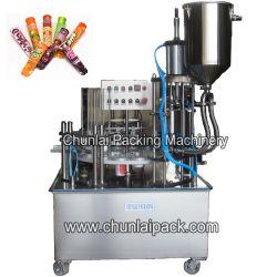 Fabrik-direkte Verkauf volle automatische Calippo Gefäß-Cup-Eiscreme-Frucht Soße-füllende Dichtungs-Verpackungs-Maschinerie