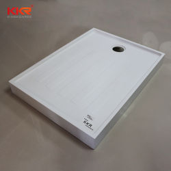 Les mesures sanitaires de base solide de résine acrylique douche bac à douche en pierre de surface