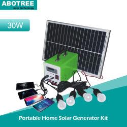 Портативный источник питания генератора солнечной энергии для освещения, телефоны/ноутбуки на базе
