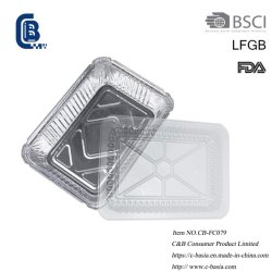 Одноразовые алюминиевой фольги для приготовления барбекю выпечки продовольственной контейнер, поддон 2