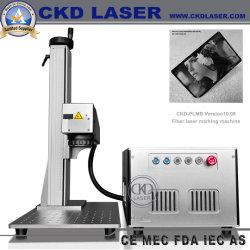20/30/50/60/100W de Laser die van de vezel Machine voor het Plastic Teken Om metaal te snijden van het Embleem van de Kop van de Yeti van de Gravure van de Druk merken