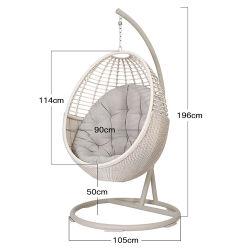 직업적인 제조자 발코니 PE 등나무 대를 가진 거는 계란에 의하여 형성되는 그네 의자