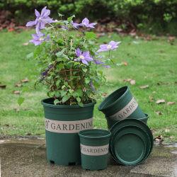 2 Pot van de Bloem van de gallon de Plastic voor Hulpmiddelen van de Tuin van het Balkon van de Decoratie de Groene Duurzame