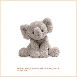 Elefante Cinza de pelúcia Pelúcia dons bebê recém-nascido