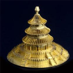 Puzzle de metal 3D de arquitectura Burj Al Arab montado rompecabezas modelo educativo de Villa de bricolaje modelos 3D de regalo juguetes para niños