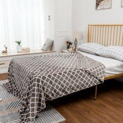 100% poliéster flanela de impressão com Novo Design de manta de lã no cobertor