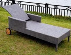 Jardín moderno recostada cama plegable silla de mimbre de ocio del hotel Sun Beach tumbona Sofá-Cama Muebles de salón al aire libre