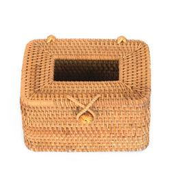 Handmade Boîte rectangulaire en rotin tissu