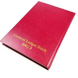 Livre relié à la main la pierre papier timbre Gloden général Ledge livre