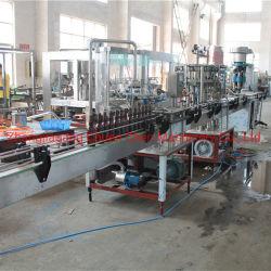 El lavado de botellas de vidrio lineal / Cerveza bebida carbonatada de llenado de agua de la CDV de limitación de la botella / máquina de sellado