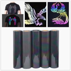 Colorido Htv Rainbow Reflexo Filme de vinil de Transferência de Calor para vestuário