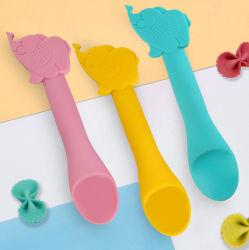 Novos produtos para bebés sem BPA durável com utensílios de cozinha colher de Silicone