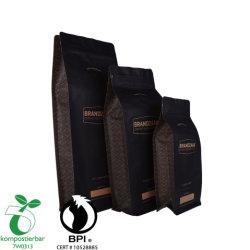 L'éco papier Kraft pochette à fermeture éclair Café à fond plat biodégradable sac d'emballage alimentaire à fermeture ZIP