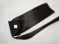 100% der reinen Remy Ponytail Hair Extension Wrap Menschenhaar-Dame Pferdeschwanz-Haar