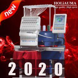 10 anos mais novo serviço Holiauma única Cabeça 12/15 Agulhas Preço máquina de bordado computadorizada na China semelhante que Tajima Irmão 1 máquina de bordado da cabeça
