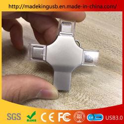 النوع C مع محرك فلاش USB محمول متعدد الوظائف OTG/محرك أقراص USB شعار وحدة تجميع الليزر مجانًا من المصنع