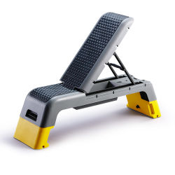 マルチベンチプレスのプラスチック好気性のステップ試しの体操のベンチの傾斜の平らで調節可能なウェイトベンチの出版物の体操装置