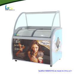 Affichage de la crème glacée Lsx Mini frigo congélateur porte en verre