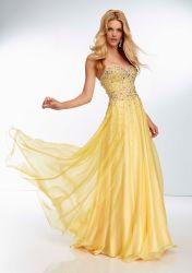 Le perlage robes de soirée robes de mousseline officiellement partie de la prom robes de célébrité