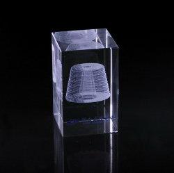 Cristal laser 3D Intérieur pour la décoration de table cadeaux des fêtes