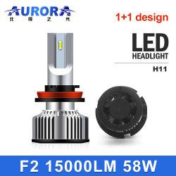 Aurora Automotive 1+1 carro levou lâmpadas do farol H7 H4 H11 Luzes de automóveis 6000K 9005 9006 9012 H1 H8 9012 H3 para Farol Automático do Sistema de Iluminação