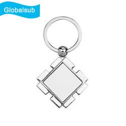 Impression en sublimation enduits de métal blanc Porte-clés