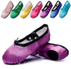 Les femmes des Chaussures de Danse Ballet Toe Satin plat de la Pointe des chaussures pour fille