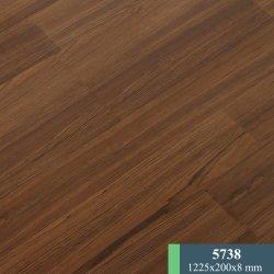 8mm Surface de la soie de couleur de ciment des planchers laminés