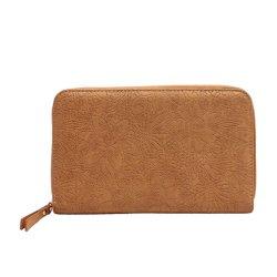 Venta caliente en relieve multifunción de cuero de PU viajar Passport wallet cubierta con el titular de la pluma