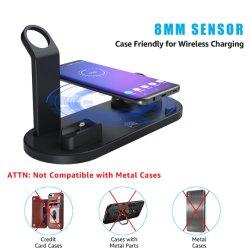 Chargeur rapide 10W Téléphone sans fil universel 4 en 1 quai de chargement de type C