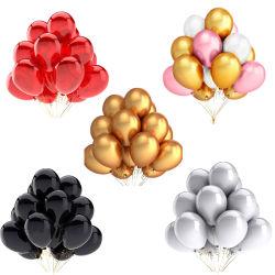 20PCS balões de festa de aniversário de Ouro Preto balão de látex Rosa decorações de casamento aniversário de casamento de duche de bebé para crianças Ar Globals