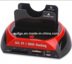 Hot-Sale USB 2.0 à double station d'accueil de disque dur SATA