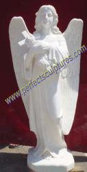Standbeeld van de Engel van de steen het Marmeren voor de Grafsteen van het Monument van de Grafsteen van de Begraafplaats (sy-X1087)