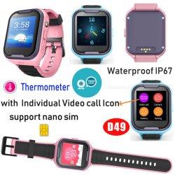 4G termómetro impermeável Kids Rastreador GPS Ver telefone com memória de grande capacidade