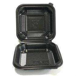 8 pouces de jetables en plastique alimentaire écologique conteneur Conteneur de boîtier en plastique de gros boîte à lunch