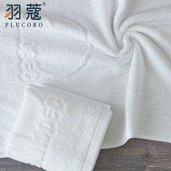 De aangepaste Goedkope Badhanddoek van het Hotel van de Jacquard van de Douane Egyptische 70X140cm Witte