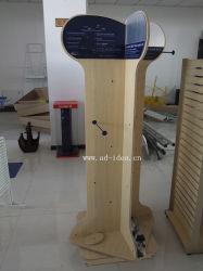 Magasin de jouets pour animaux de compagnie titulaire d'affichage en bois et support étagère de rack