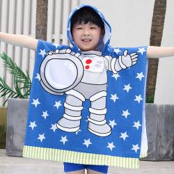 Stock de la promotion de la mode de nettoyage en microfibre 100% Polyester Poncho et le phoque à capuchon de l'impression Baby Gift Terry Serviettes de bain et serviette de plage de couvertures Couvertures pour les enfants