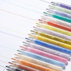 18색 오피스 소모품 편지지 영구 아크릴 페인트 마커 3D 펜