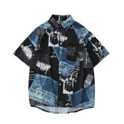 패션 커스텀 패턴 하와이 비치 셔츠 여름 반팔 프린트 알로하 셔츠 홀리데이 휴가 의류