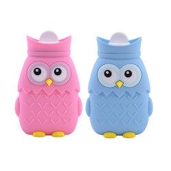 새로운 디자인 Owl Shape 핫 워터 병, 실리콘 핫 워터 병 백, 전자레인지 가열 환경 BPA 불포함 소형 폭발 방지 실리콘 물병