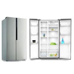 큰 용량의 집 냉장고 옆쪽 프렌치 도어 냉장고