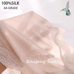 Las bragas de seda 100% de la Dama de seda de morera bragas de encaje de seda ropa interior