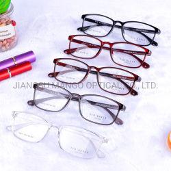 Rote klassische Unisexglas-optischer Rahmen Eyewear