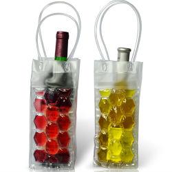 Il vino del sacchetto della bottiglia trasporta il pacchetto di ghiaccio del sacchetto del regalo per vino