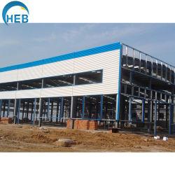 La construcción de la estructura de bastidor de acero de la Carpa Almacén