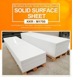 Pierre artificielle de surface solide en acrylique pur blanc glacier Corian Pour meuble de toilette de comptoir