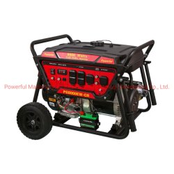 Hotsale Cradle-Style Portable puissant Générateur essence 5 kw (PG5500CR/E) avec poignée et roues à moteur à essence de l'EPA