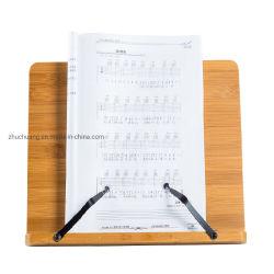 De draagbare en Vouwbare Tribune van het Boek van het Bamboe van de Lezing van de Muziek iPad