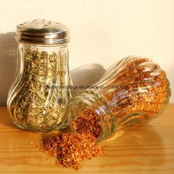Le trou du couvercle en verre transparent de sel poivre bouteille Spice Shaker